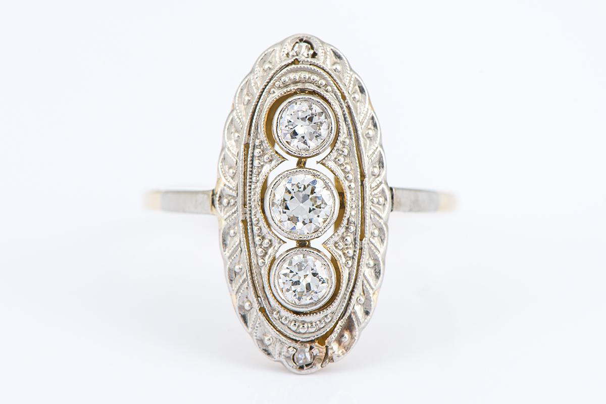 [写真]アールデコ ダイヤモンドリング