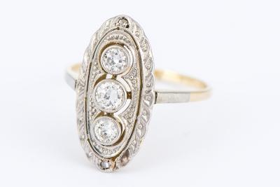 [サムネイル]アールデコ ダイヤモンドリング