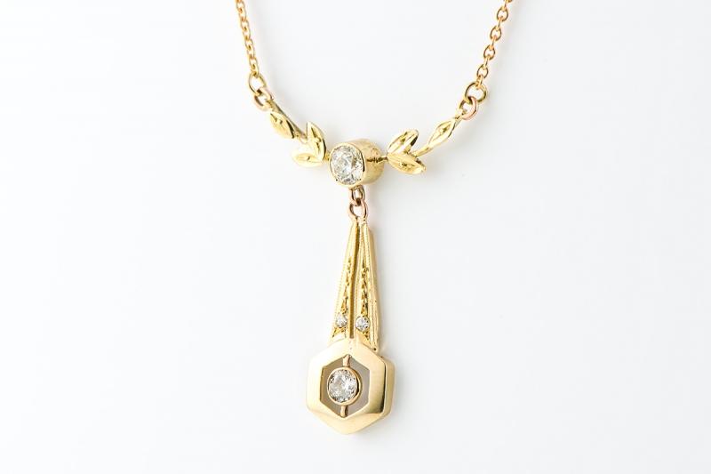 [写真]ゴールド・ダイヤモンドネックレス