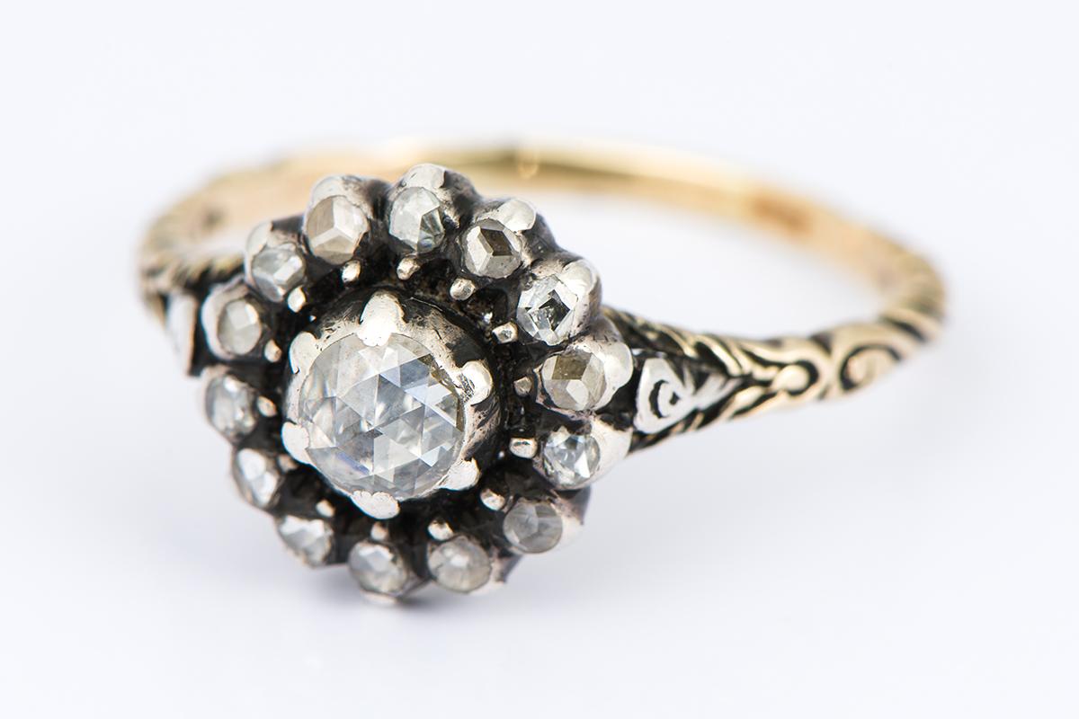 [写真]ジョージアン ダイヤモンドリング