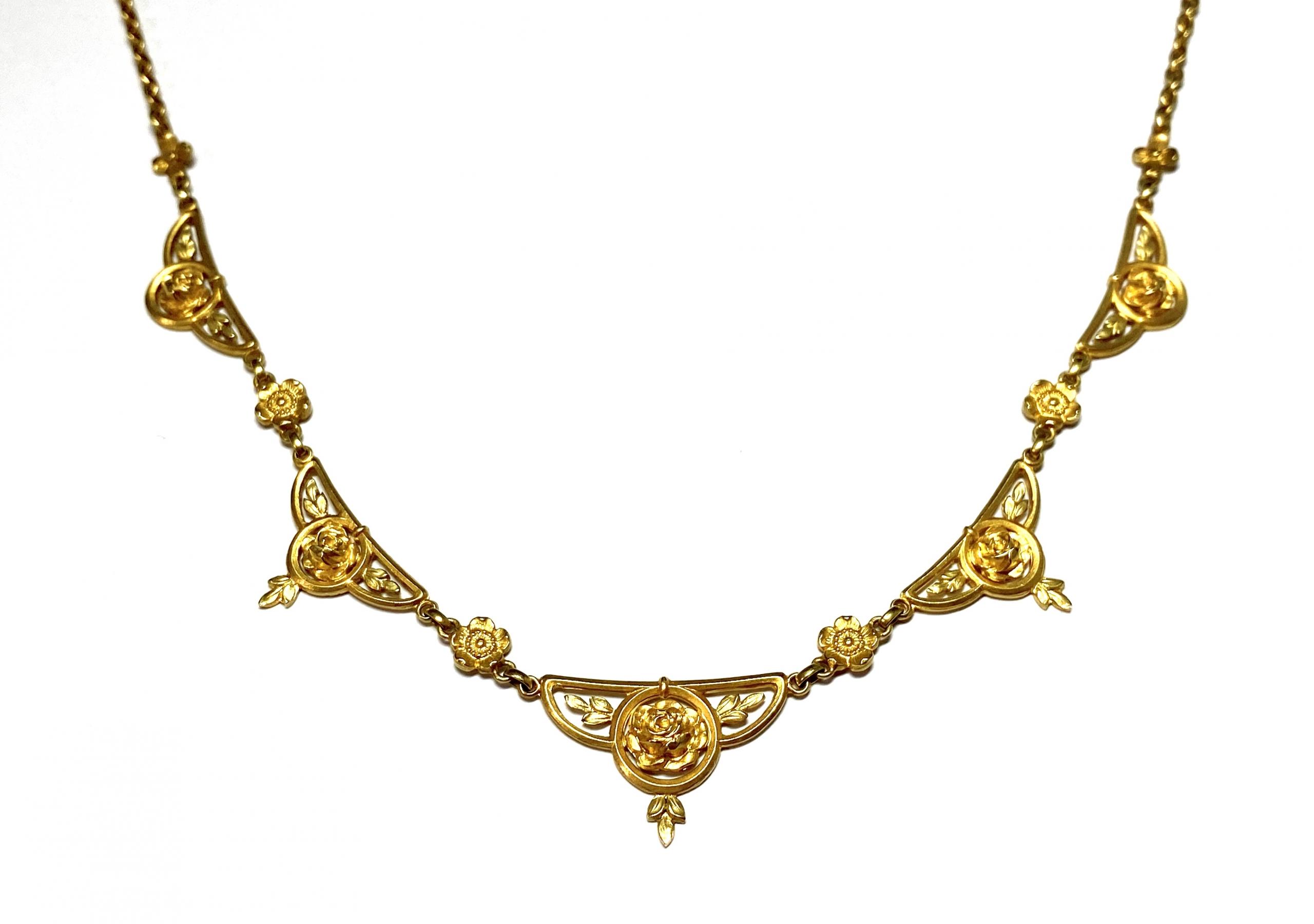 [写真]アール・ヌーヴォー 薔薇のネックレス