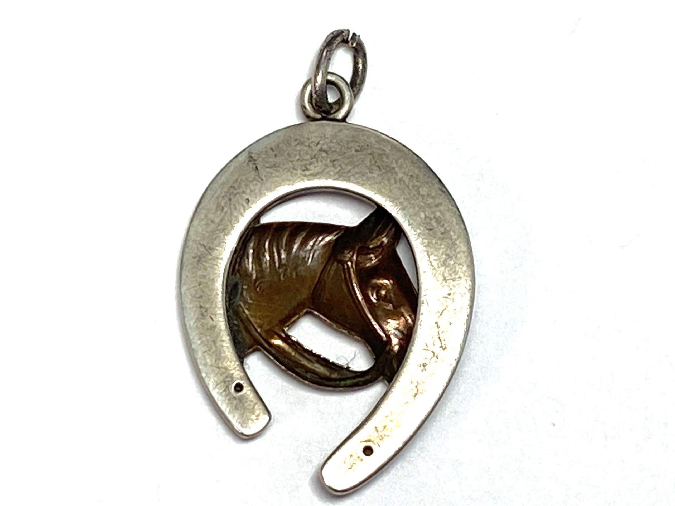 [写真]馬蹄のペンダントトップ
