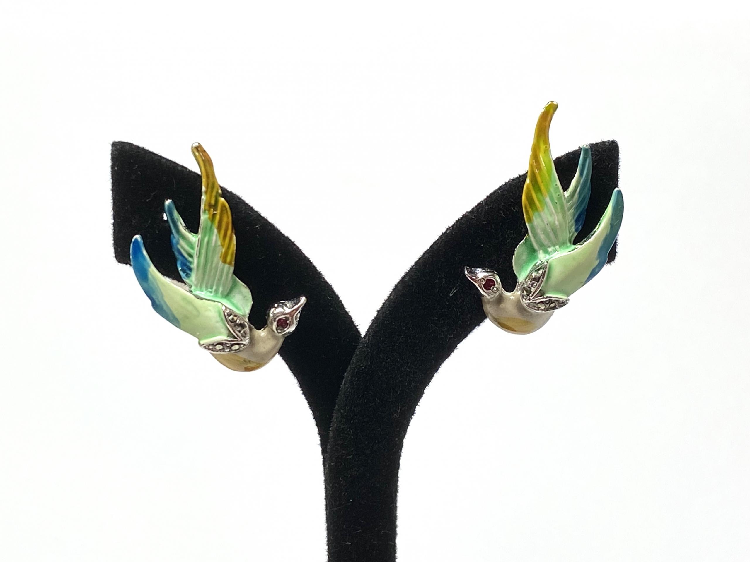 [写真]鳥のイヤリング