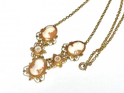 [サムネイル]シェルカメオのネックレス