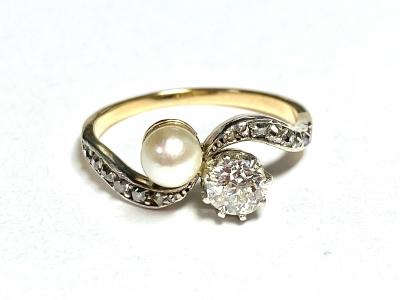 [サムネイル]ダイヤモンド&パールリング