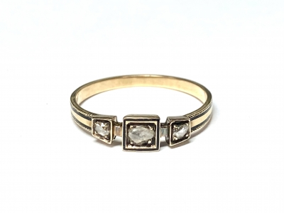 [サムネイル]ローズカットダイヤモンドリング