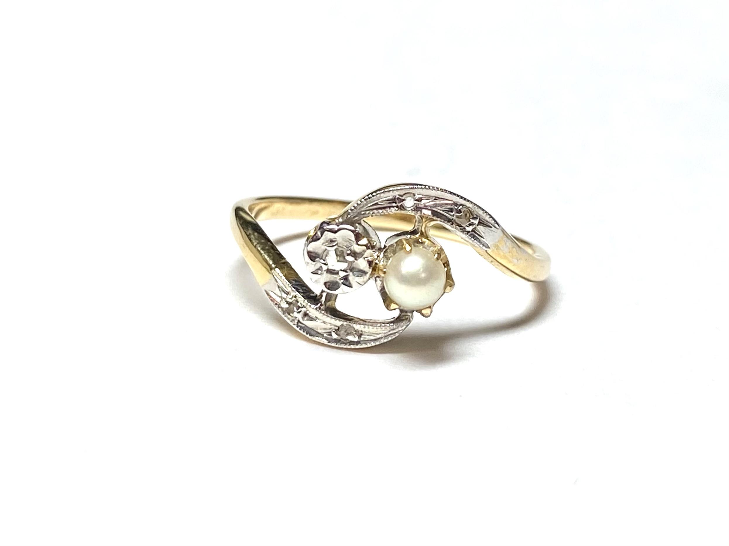[写真]パール&ダイヤモンド リング